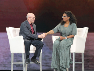 Mark Nepo with Oprah on Tour